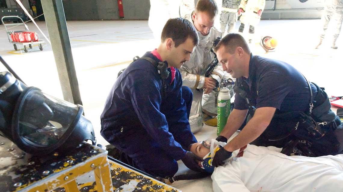 Standby Emergency Response providing first aid